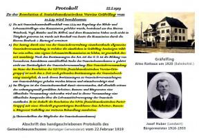 SPD Gräfelfing im Protokolltext v. Februar 1919