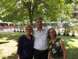 Natascha Kohnen, Dr. Michael Stephan und Anette Kitzmann-Waterloo