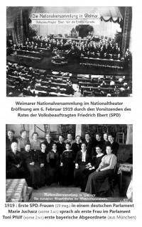 Der erste Reichstag in Weimar 1919 mit den ersten SPD-Frauen