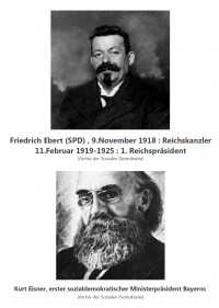 sie gestalteten die Sozialdemokratie : K.Eisner und F.Ebert