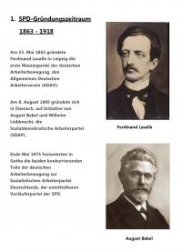 Gründer der SPD : F.Lassalle und A.Bebel