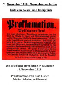 Proklamation der Republik von K.Eisner am 8.11.1918