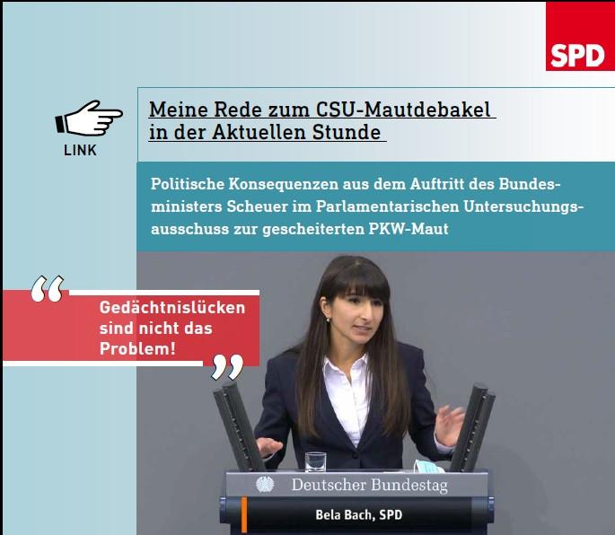 Bela Bach im Bundestag